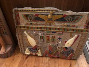 Lot 100 Lot of 2 Decorative Egyptian Decorative Items PICK UP IN NORTH MASSAPEQUA