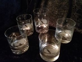 Lot 036 Lot of 5 Rosenthal Eastern Airlines Glasses PICK UP IN HOWARD BEACH