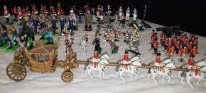 Lot 001 PU/Large Lot of W. Britain /Britains Ltd. Asst. Pieces of Miniatures  PICK UP IN MINEOLA,NY