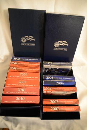 Lot 019 Lot of 7 Proof Sets 2008x3,2009x2,2010x2