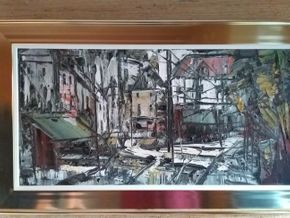 Lot 035 Road to Southampton Signed on Back Sobossek 12 x 24 PICK UP IN MANHASSET