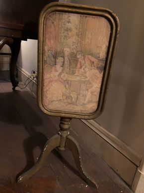 Lot 130 Small Tapestry Tilt Top Table 30T