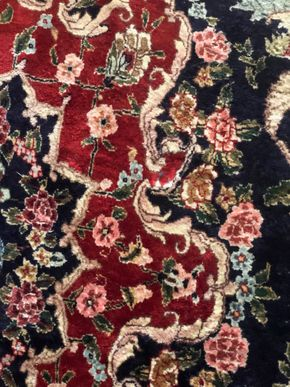 Lot 030 Wool and Silk Handmade Rug Fringe wear 9x12 PICK UP IN RVC