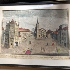 Lot 030 Lot of Antique Hand Painted Engravings