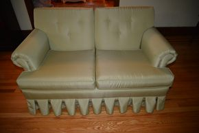 Lot 020 Upholstered Loveseat 29H x 52.75W x 30.5L PICK UP IN MALVERNE, NY