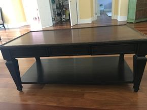 Lot 066 Milling Road Wood Coffee Table some Scratches 21H x 26W x 50L PICK UP IN LAWRENCE