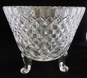 Lot 013 CC-PU-/Footed Waterford Bowl 8.5H x 10.375W PICK UP IN CARLE PLACE,NY