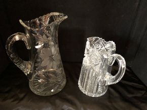 Lot 005 Lot of 2 Cut Glass Vases ITEMS MUST BE PICKED UP IN LONG BEACH