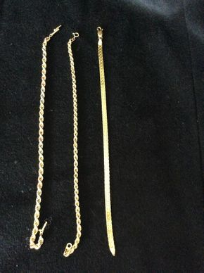 Lot 006 Lot Of 3 14K Bracelets PICK UP IN WEST HEMPSTEAD