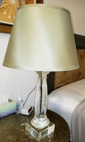 Lot 013 Lucite Table Lamp 31H  PICK UP IN HEWLETT,NY