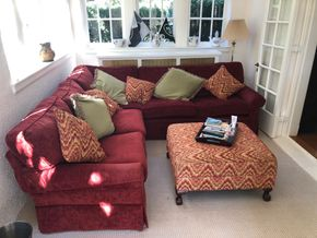 Lot 007 Upholstered Sectional 8ft x 6ft and 5ft x 2Ft PICK UP IN GARDEN CITY