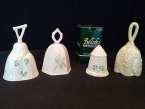 Lot 072 Lot Of Belleek Bells PICK UP IN ROCKVILLE CENTRE