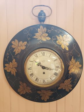 Lot 002 Smith 8 Day 4 Jewel Wall Clock Made in Great Britain  14.875H x 14.875W PICK UP IN EAST ROCKAWAY,NY