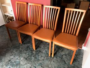 Lot 041 Lot Of Four Skovby Dining Room Chairs. 37H X 19W X 18.25W. PICK UP IN ROCKVILLE CENTRE.