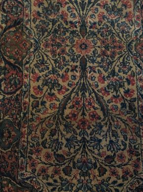 Lot 124 Small Persian Rug -Garden Style 46L x 24W