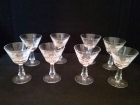 Lot 075 Lot of 8 Kenmare Small Champagne Sherbert Waterford Glasses PICK UP IN ROCKVILLE CENTRE