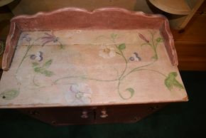 Lot 015 Painted Wood Cabinet /2 shelves PICK UP IN PORT WASHINGTON, NY