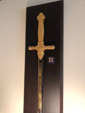 Lot 091 Framed Decorative Sword PICK UP IN NORTH MASSAPEQUA