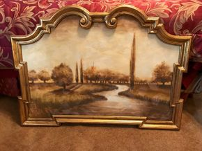 Lot 114 Oil On Canvas Painting. 30.25 H X 1.5W X 41.5L.  PICK UP IN BELLMORE.