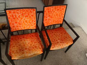 Lot 028 PU Pair of Mid Century Modern Armed Chairs by John Stewart 21w x 31h PICK UP IN RVC