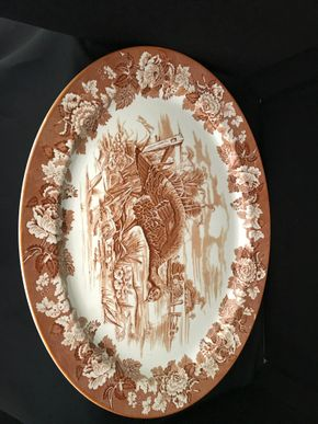 Lot 021 Woods Burslem England Platter. 21L X17W. PICK UP IN INWOOD.