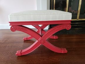 Lot 026 Pd./Pick Up at Tag Sale Ethan Allen Decorative Seat / Ottoman 18W x 24W x 18L PICK UP IN GARDEN CITY, NY