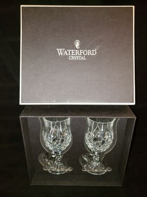Lot 036 Lot of Waterford Crystal including  (Lismore)  2- 8 ounce Irish Coffee Mugs and a Framed Print of an Irish Cottage PICK UP IN COMMACK,NY
