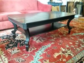Lot 007 Coffee Table 19.5Hx 30W x 54L AS IS Scratches. PICK UP IN HEMPSTEAD.