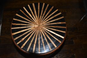 Lot 033 Vanguard Round Table w/Bamboo Relief 1bamboo re;ief 5W x 22H PICK UP IN NEW HAVEN, CT