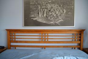 Lot 022 Oak Wood Bed Frame 50H x 82W x 86L  PICK UP IN SEAFORD, NY