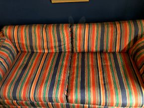 Lot 093 Upholstered Sleeper Couch 73L x 26H x 36D