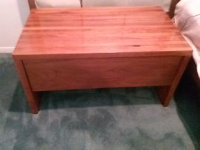 Lot 101 Excellent Condition Mid Century Modern Side Table 16H x 17.5W x 30L PICK UP IN OLD BROOKVILLE