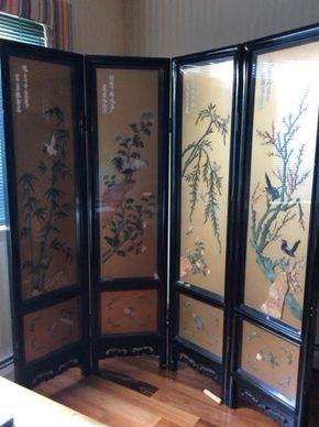 Lot 030 Asian Screen Some damage 72H x  72W PICK UP IN LOCUST VALLEY