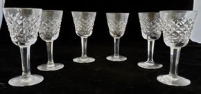 Lot 025 Lot of 6 Waterford Small Liqueur Cocktail/Cordial Alana Pattern 3.25H PICK UP IN CARLE PLACE,NY