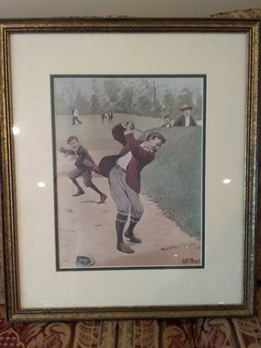 Lot 027 AB Frost Golf Print 20.5 x 17.5 PICK UP IN GARDEN CITY