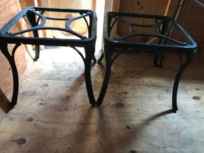 Lot 122 Wrought Iron Side Tables. 18H X 19.75. PICK UP IN BELLMORE.