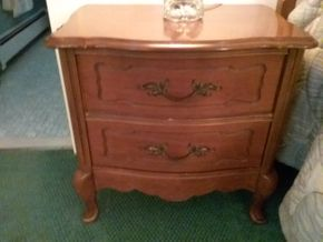 Lot 013 Pair Of Basset 2 Drawer Night Stands 24H x 15.5W x 24.5L  PICK UP IN WESTBURY