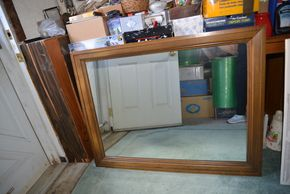Lot 009 Wood Mirror 33.5H x 43.25W PICK UP IN SEAFORD, NY
