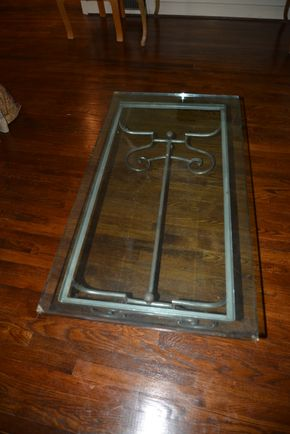 Lot 020 Pick Up/ Delivery Glass Top Coffee Table 16.375H x 24W x 44L PICK UP IN PORT WASHINGTON, NY