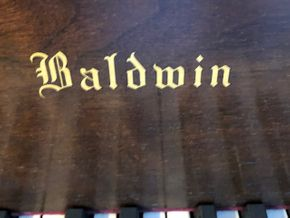 Lot 106 Baldwin Baby Grand Piano Paris Grand Prix Acoustic w/Bench and Sleet Music Serial number 119810 62 inches Long