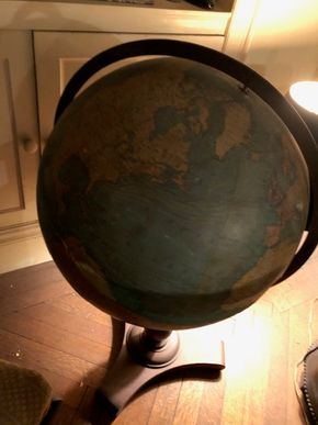 Lot 140 World Floor  Globe with some Damage 34T x 16w