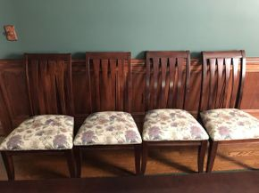 Lot 014 Lot of 4 Ethan Allen Cherrywood Chairs ITEM CAN BE PICKED UP IN ROCKVILLE CENTRE