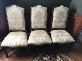 Lot 016 Lot of 3 Ethan Allen Cherry Wood Chairs   ITEM CAN BE PICKED UP IN ROCKVILLE CENTRE