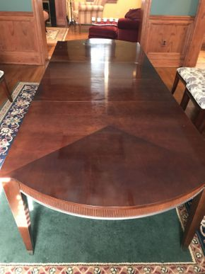 Lot 017 Ethan Allen Cherrywood Banquet Size Dining Room Table    ITEM CAN BE PICKED UP IN ROCKVILLE CENTRE