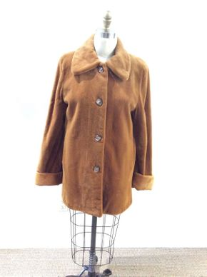 Lot 006 Whiskey Sheared Mink Size 10 Length 33in Sleeve 31in Sweep 60in  Reversible 2365