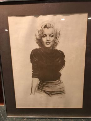 Lot 035 Marilyn Monroe Signed Lithograph    ITEM CAN BE PICKED UP IN ROCKVILLE CENTRE