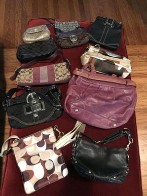Lot 044 Lot of 11 Coach Bags    ITEM CAN BE PICKED UP IN ROCKVILLE CENTRE