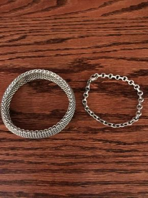Lot 047 Tiffany Sterling Silver Bracelets ITEM CAN BE PICKED UP IN ROCKVILLE CENTRE
