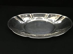 Lot 102 Gorham Sterling Silver Oval Platter ITEM CAN BE PICKED UP IN WEST HEMPSTEAD
