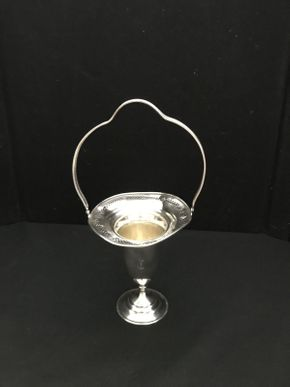 Lot 103 Weighted Silver Vase with Handles   ITEM CAN BE PICKED UP IN WEST HEMPSTEAD